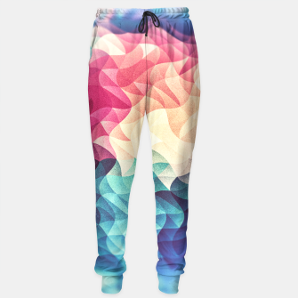 Miniature de image de Colorful Abstract Geometric Vintage Triangle Pattern Sweatpants, Live Heroes