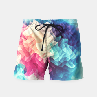 Miniature de image de Colorful Abstract Geometric Vintage Triangle Pattern Swim Shorts, Live Heroes