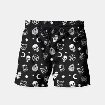 Thumbnail image of Witch Pattern 3 Swim Shorts, Live Heroes