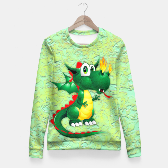 Thumbnail image of Baby Dragon Cute Cartoon  Fitted Waist Sweater, Live Heroes