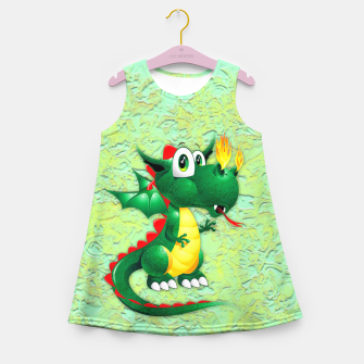 Thumbnail image of Baby Dragon Cute Cartoon  Girl's Summer Dress, Live Heroes