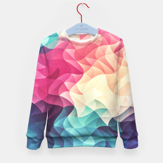 Miniature de image de Colorful Abstract Geometric Vintage Triangle Pattern Kid's Sweater, Live Heroes