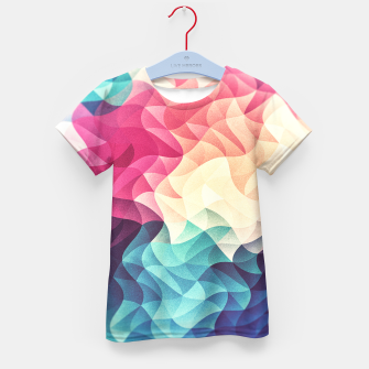 Miniature de image de Colorful Abstract Geometric Vintage Triangle Pattern Kid's t-shirt, Live Heroes