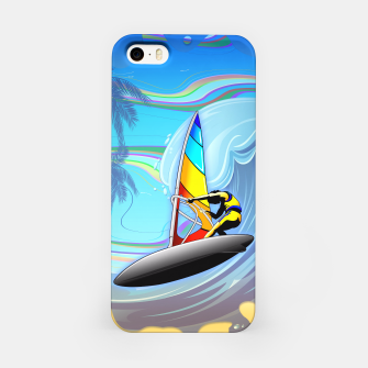 Thumbnail image of WindSurfer on Ocean Waves  iPhone Case, Live Heroes