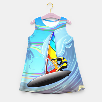 Thumbnail image of WindSurfer on Ocean Waves  Girl's Summer Dress, Live Heroes