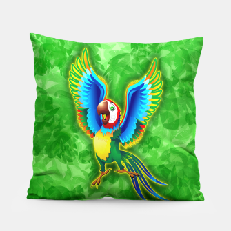 Thumbnail image of Macaw Happy Cartoon  Pillow, Live Heroes