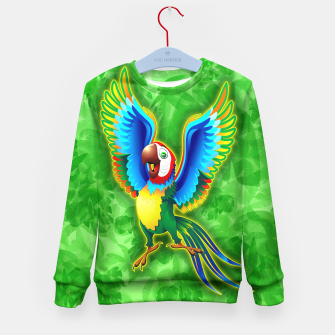 Thumbnail image of Macaw Happy Cartoon  Kid's Sweater, Live Heroes