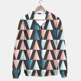 Thumbnail image of Salmon Teal Triangles  Hoodie, Live Heroes