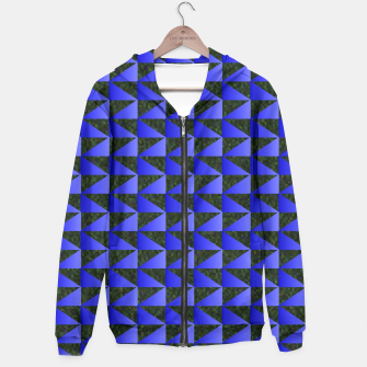 Thumbnail image of Blue Black Triangle Pattern Hoodie, Live Heroes