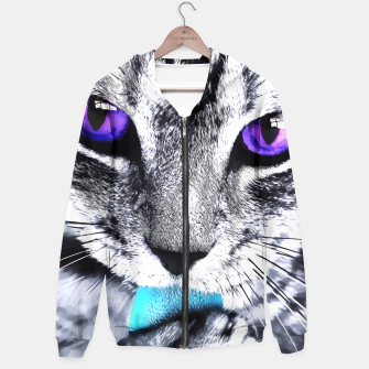 Purple eyes cat Hoodie thumbnail image