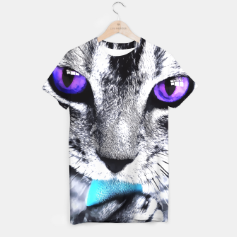 Purple eyes cat T-shirt obraz miniatury
