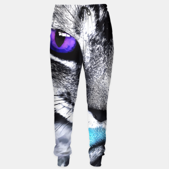 Purple eyes cat Sweatpants thumbnail image