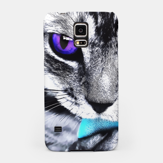 Purple eyes cat Samsung Case thumbnail image