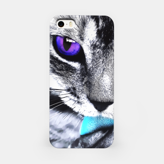 Purple eyes cat iPhone Case thumbnail image