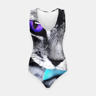 Purple eyes cat Swimsuit obraz miniatury
