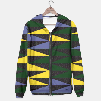 Thumbnail image of Yellow Blue Green Triangles Pattern Hoodie, Live Heroes