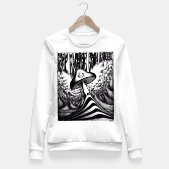 Miniatur Keep Warning From Badgers! Fitted Waist Sweater, Live Heroes