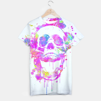 Miniaturka  Cool & Trendy Pink Watercolor Skull T-shirt, Live Heroes