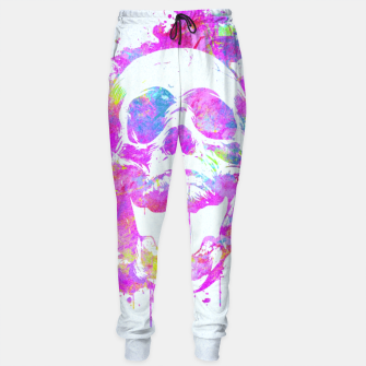 Miniature de image de  Cool & Trendy Pink Watercolor Skull Sweatpants, Live Heroes