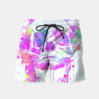 Miniature de image de  Cool & Trendy Pink Watercolor Skull Swim Shorts, Live Heroes