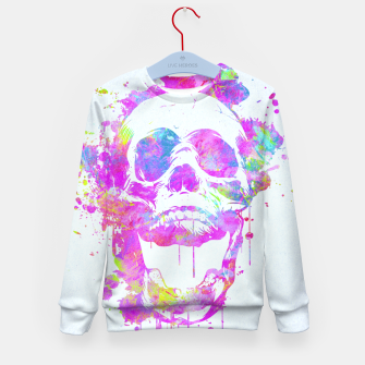 Miniature de image de  Cool & Trendy Pink Watercolor Skull Kid's Sweater, Live Heroes