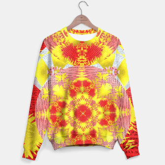 Thumbnail image of Red Gold Oriental Print Sweater, Live Heroes