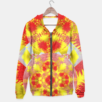 Thumbnail image of Red Gold Oriental Print Hoodie, Live Heroes