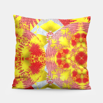 Thumbnail image of Red Gold Oriental Print Pillow, Live Heroes