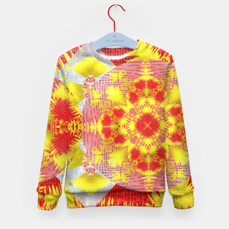 Thumbnail image of Red Gold Oriental Print Kid's Sweater, Live Heroes