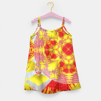 Thumbnail image of Red Gold Oriental Print Girl's Dress, Live Heroes