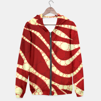 Thumbnail image of Red Gold Zebra Abstract  Hoodie, Live Heroes