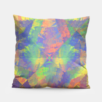 Thumbnail image of Brushstrokes Pillow, Live Heroes