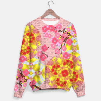 Thumbnail image of Oriental Delight Pink Cherry Blossom Print Sweater, Live Heroes