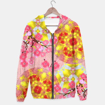 Thumbnail image of Oriental Delight Pink Cherry Blossom Print Hoodie, Live Heroes