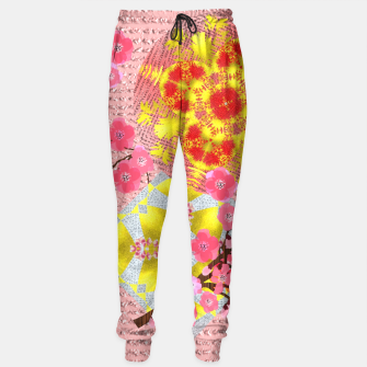 Thumbnail image of Oriental Delight Pink Cherry Blossom Print Sweatpants, Live Heroes