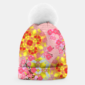 Thumbnail image of Oriental Delight Pink Cherry Blossom Print Beanie, Live Heroes