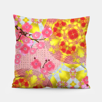 Thumbnail image of Oriental Delight Pink Cherry Blossom Print Pillow, Live Heroes