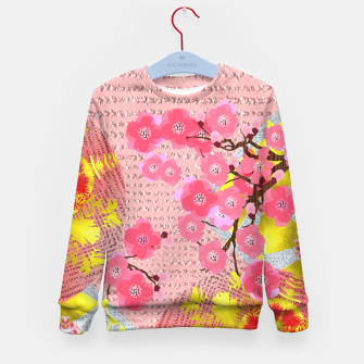 Thumbnail image of Oriental Delight Pink Cherry Blossom Print Kid's Sweater, Live Heroes