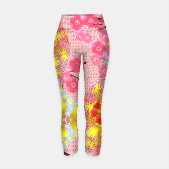 Thumbnail image of Oriental Delight Pink Cherry Blossom Print Yoga Pants, Live Heroes