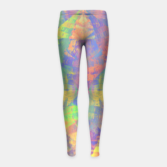 Thumbnail image of Brushstrokes Girl's Leggings, Live Heroes