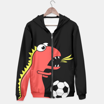 Thumbnail image of Soccer Playing Dinosaur Hoodie, Live Heroes