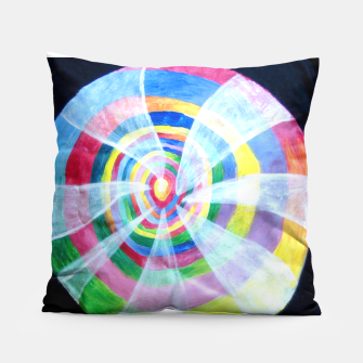 Thumbnail image of Up the rabbit spiderweb Pillow, Live Heroes
