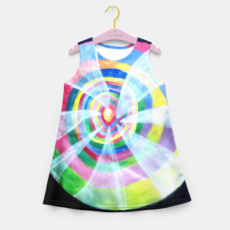 Thumbnail image of Up the rabbit spiderweb Girl's Summer Dress, Live Heroes