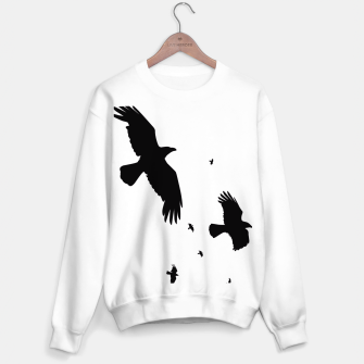 Miniatur       A Murder of Crows In Flight Silhouette Sweater, Live Heroes