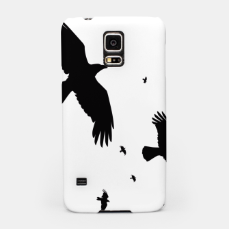 Miniatur       A Murder of Crows In Flight Silhouette Samsung Case, Live Heroes
