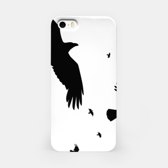 Miniatur       A Murder of Crows In Flight Silhouette iPhone Case, Live Heroes