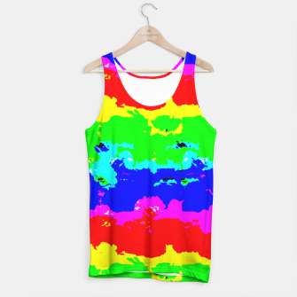 Miniaturka Colorful Digital Abstract Collage Print Tank Top, Live Heroes