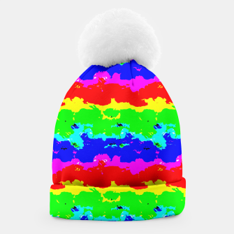 Miniaturka Colorful Digital Abstract Collage Print Beanie, Live Heroes