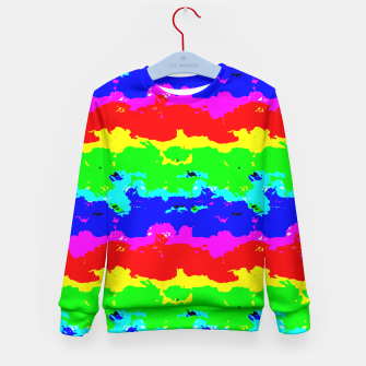 Miniaturka Colorful Digital Abstract Collage Print Kid's Sweater, Live Heroes