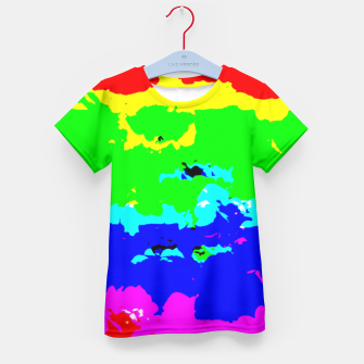 Miniaturka Colorful Digital Abstract Collage Print Kid's T-shirt, Live Heroes